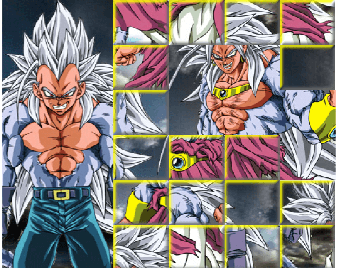 Image Goku and Vegeta SSJ5 Puzzle