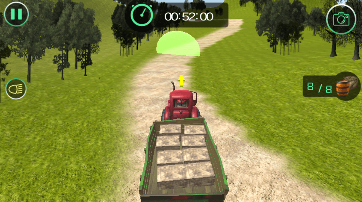 Image Farmer Tractor Cargo Simulation
