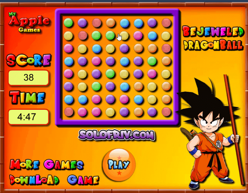 Image Bejeweled Dragon Ball